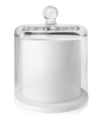 Cloche Jar - Matte Black Jar with Clear Glass Dome 250 - 275mls
