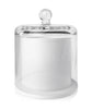 Cloche Jar - White Jar with Clear Glass Dome 250 -275mls