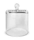 Cloche Jar - Matte Black Jar with Clear Glass Dome 550 -600mls