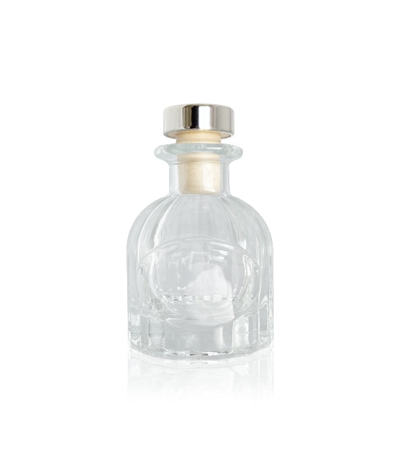 50ml Fluted Diffuser Bottle - Silver Cork