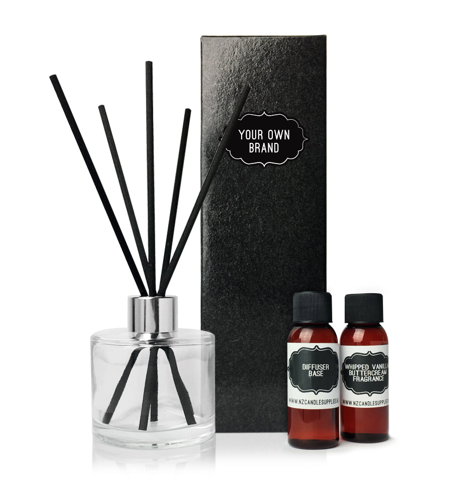 Reed Diffuser Kit - Black Sticks, Black Box