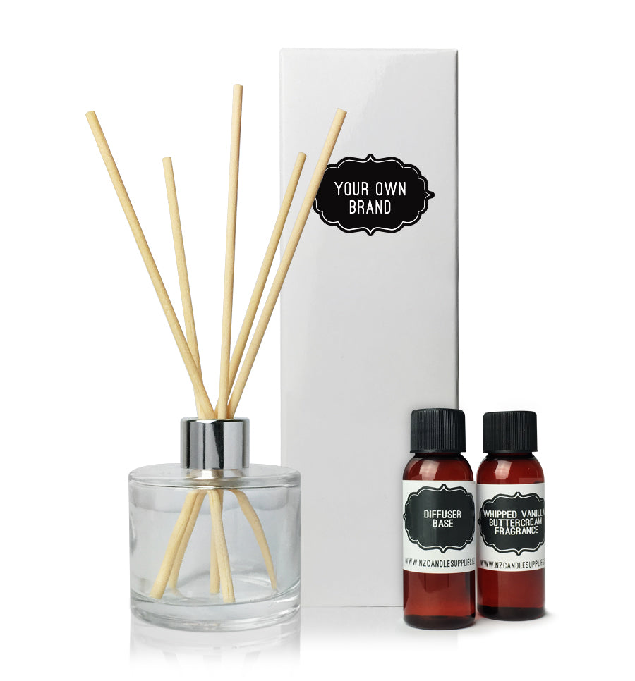 Reed Diffuser Making Kit - Natural Coloured Sticks, White Box