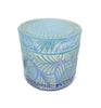 Leaf Vintage Cut Glass Candle Jar with Lid - 200mls - Blue Ion