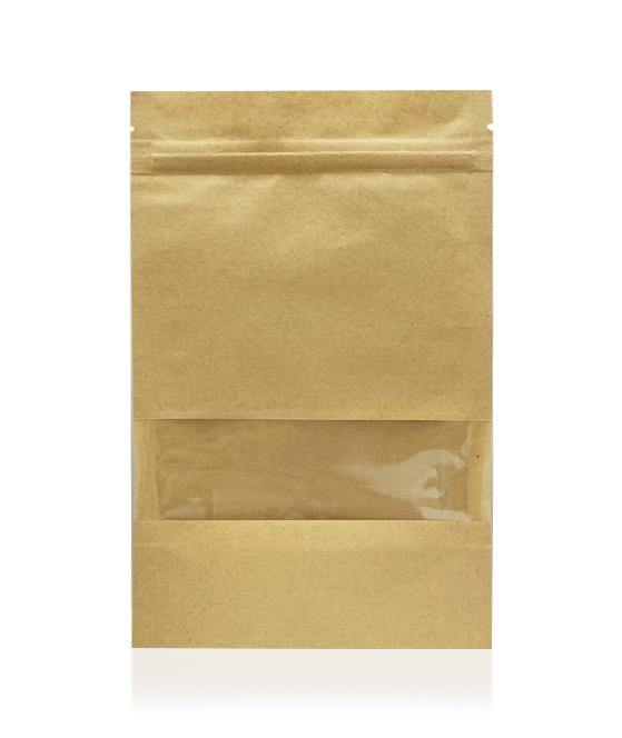 Kraft Bag with Window - Resealable