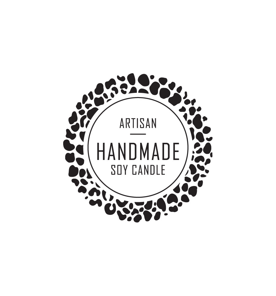 Artisan Handmade Soy Candle Label 4.2cm Dia - Transparent