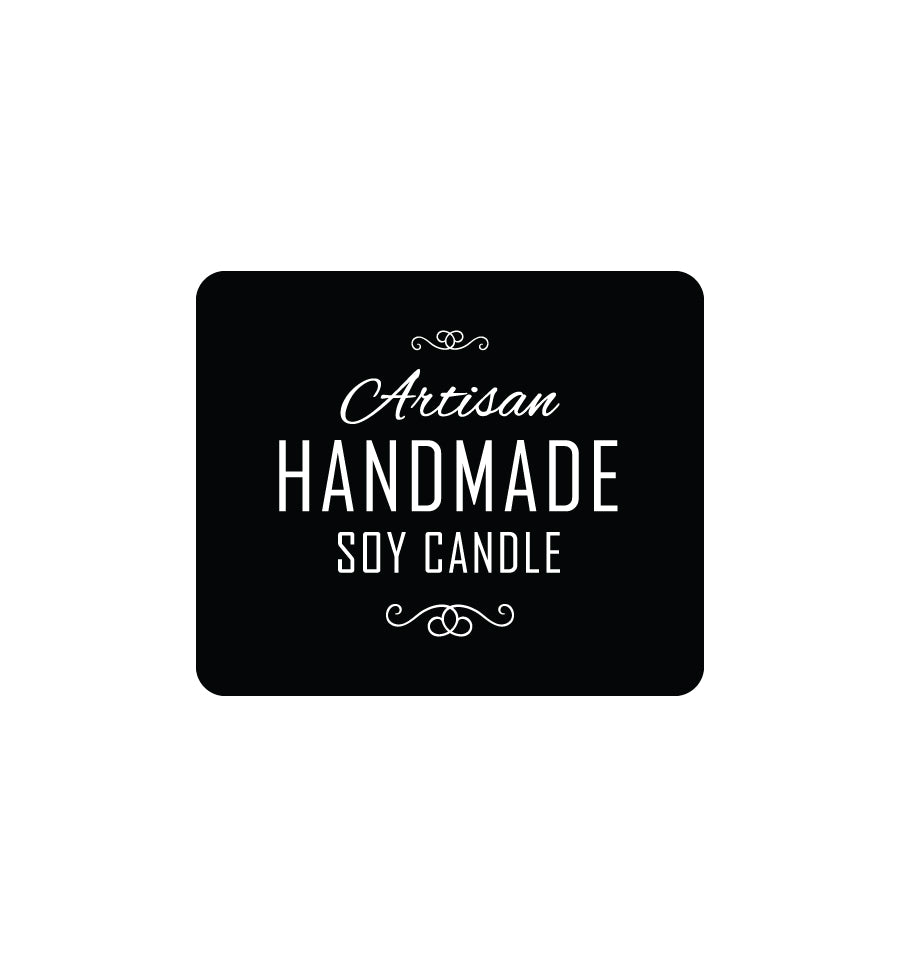 Artisan Handmade Soy Candle Label 4.3 x 3.6cm