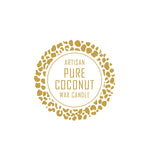 Artisan Pure Coconut Wax Label 4.2cm Dia - Transparent with Gold Foiling