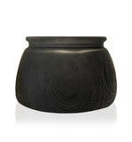 Matte Black Multiflora Cut Glass Candle Jar - 350mls