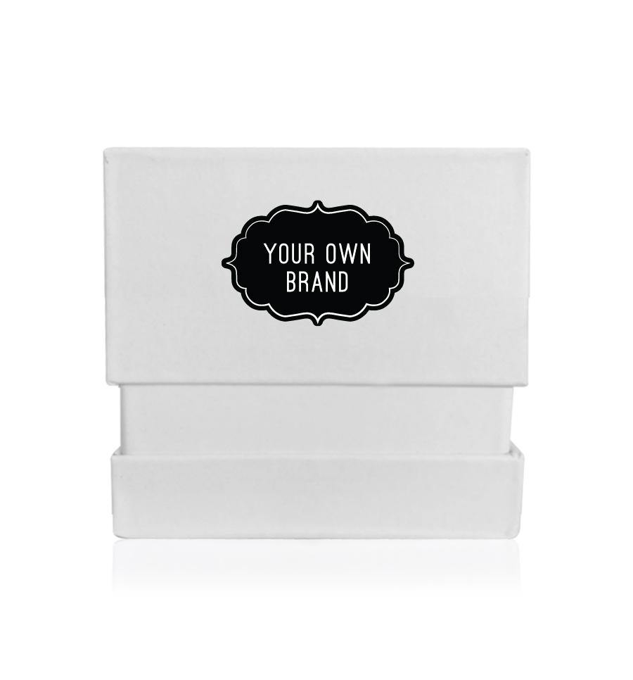 White Matte Finish Adjustable Gift Box - Small - Vintage