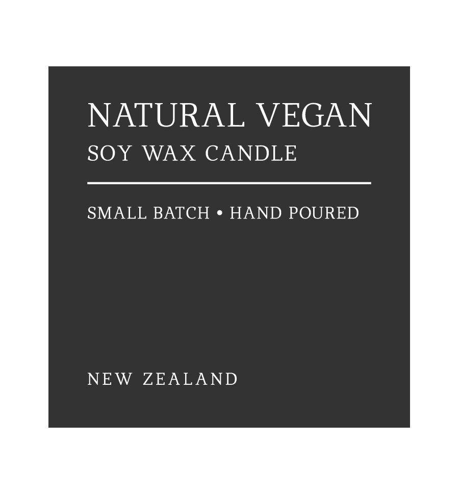 Natural Vegan Soy Wax Candle Label - 6 x 6cm