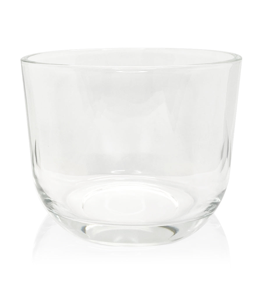 Clear Glass Oval Candle Bowl 500ml
