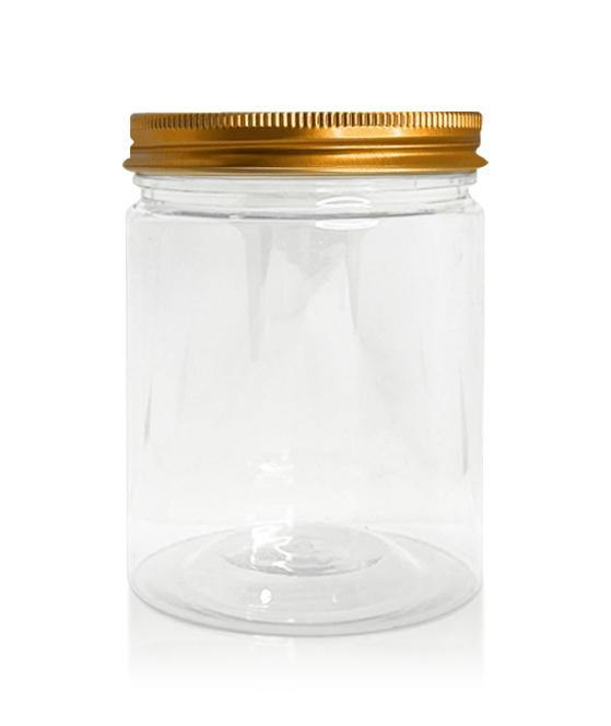 400ml Plastic Jar with Copper Lid