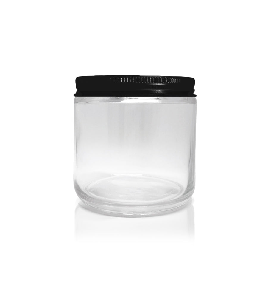 Pharmacist Glass Jar with Black Lid 100ml