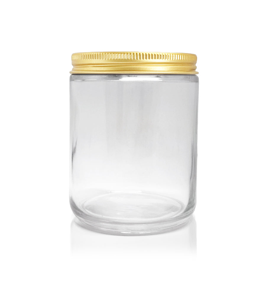 Pharmacist Glass Jar with Gold Lid 200ml