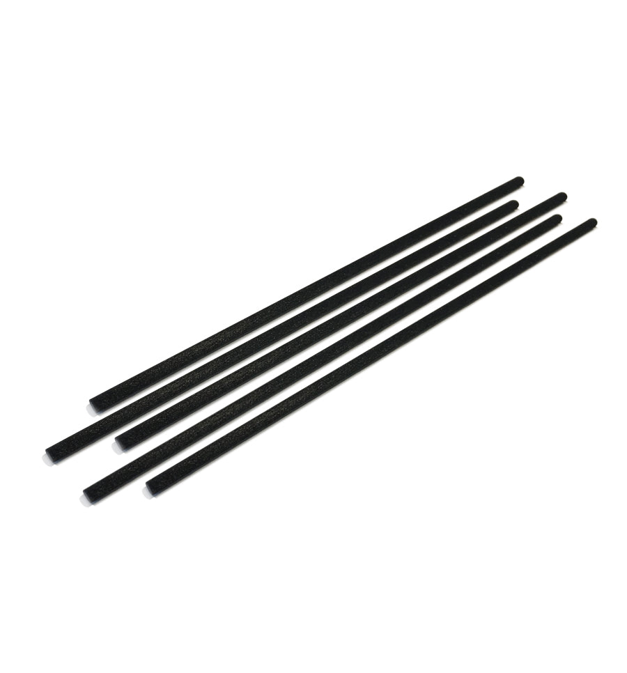 Short - Black Reed Sticks 3mm x 15cm