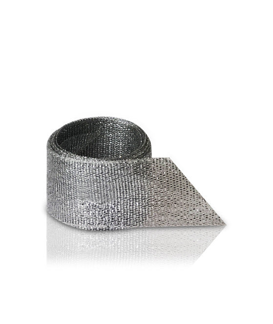 Silver Sparkly Metallic Ribbon