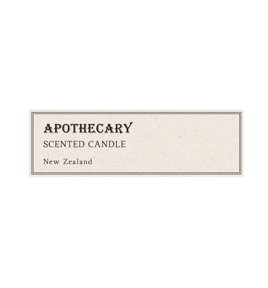 Apothecary Scented Candle Label - Natural Background 8 x 2.5cm