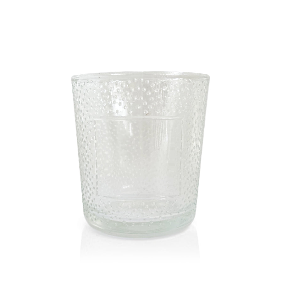 Small Raindrop Cut Glass Tumbler - Clear Jar -  145mls