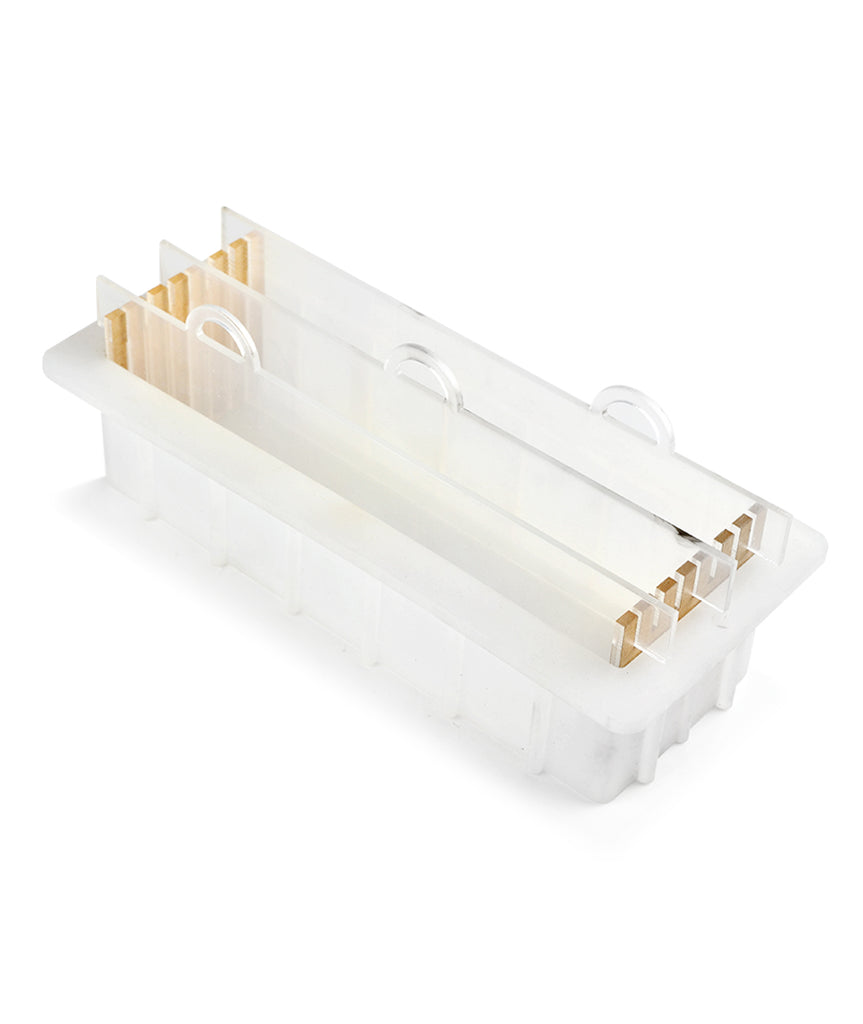White Silicone Mould with Acrylic Dividers