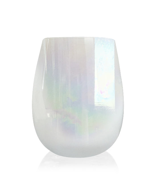 Stemless White Lustre Jar 80mls