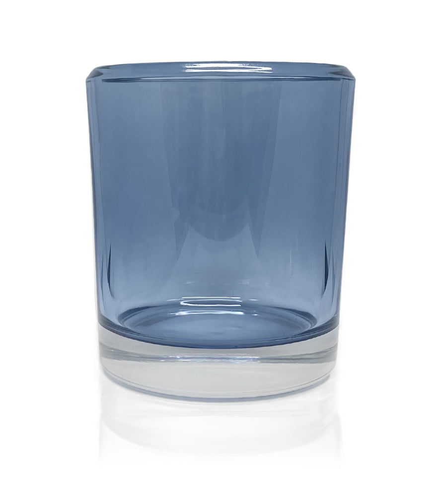Denim Blue Bevel Edge with Thick Base Candle Jar - 300mls