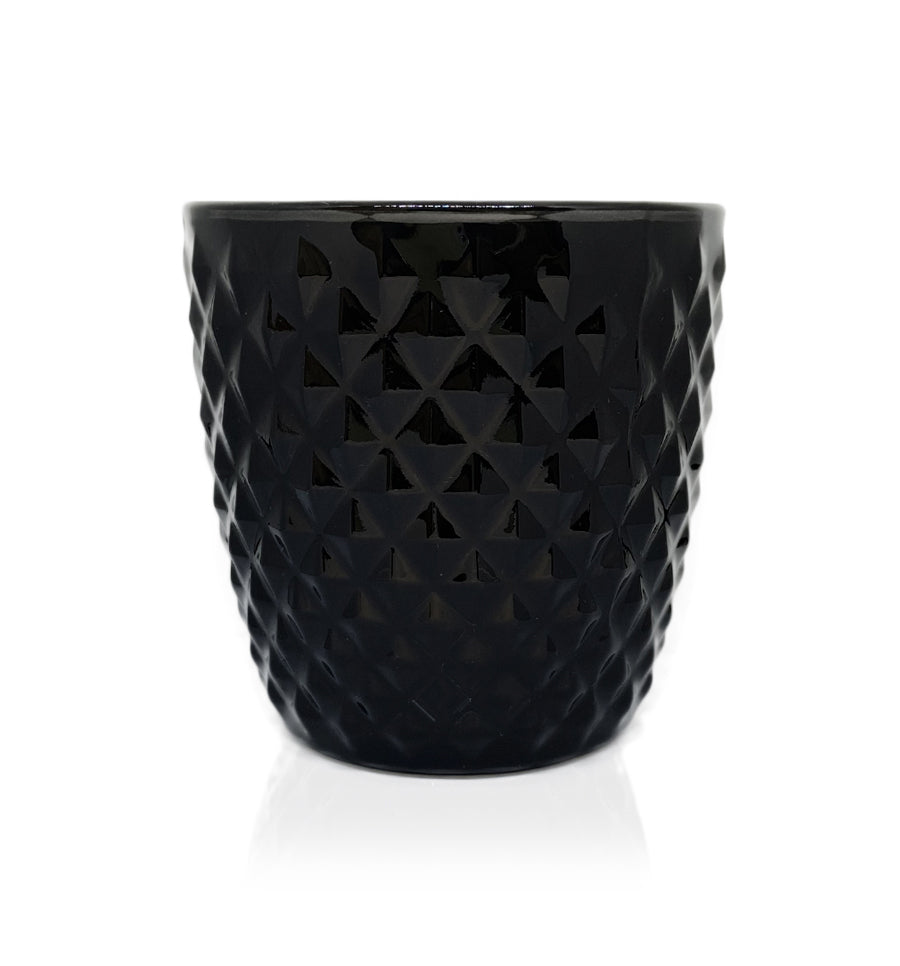 Black Diamond Cut Glass, Candle Jar - 250mls