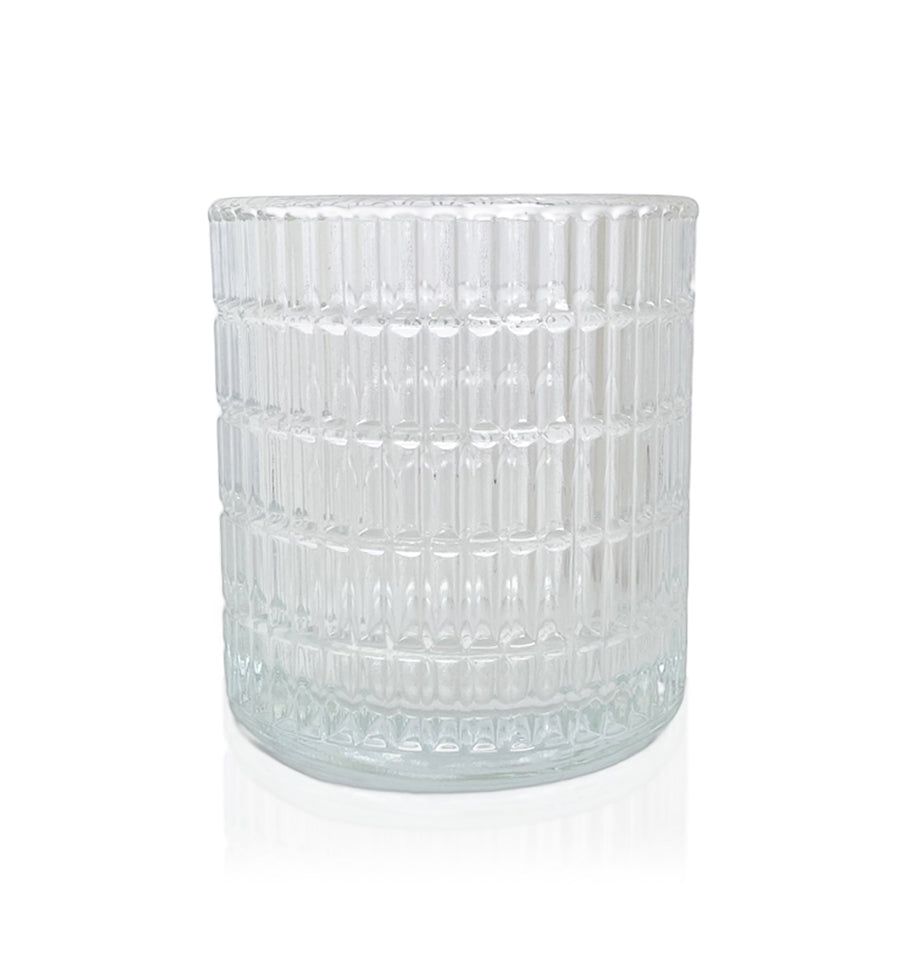 Ribbed Cut Glass Tumbler - 230-250mls