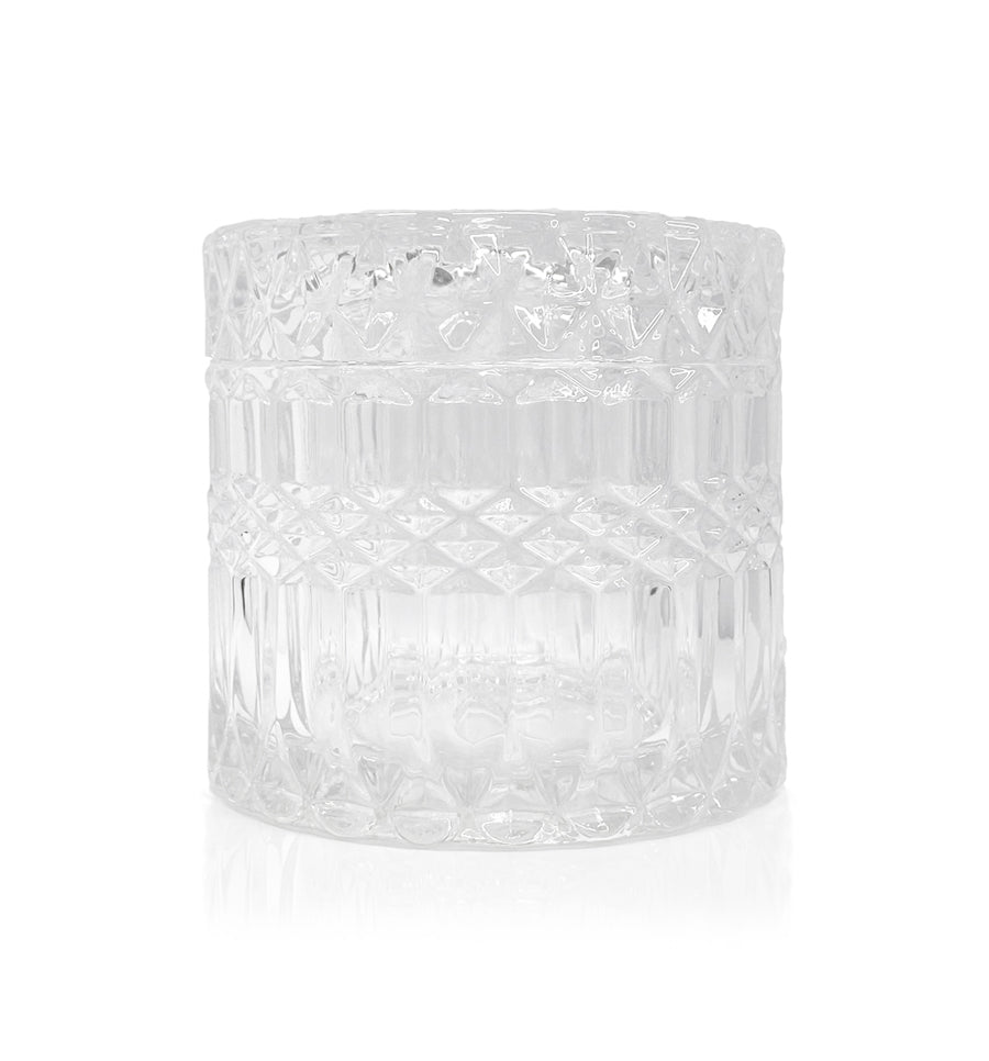 Darcy Vintage Cut Glass Candle Jar with Lid - 200mls