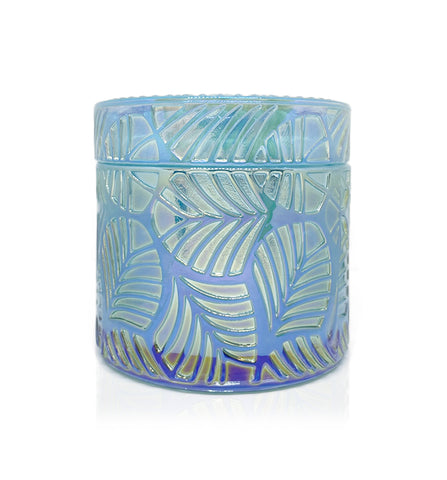 Vintage Flare Cut Glass Candle Jar - 150mls - Blue Ion