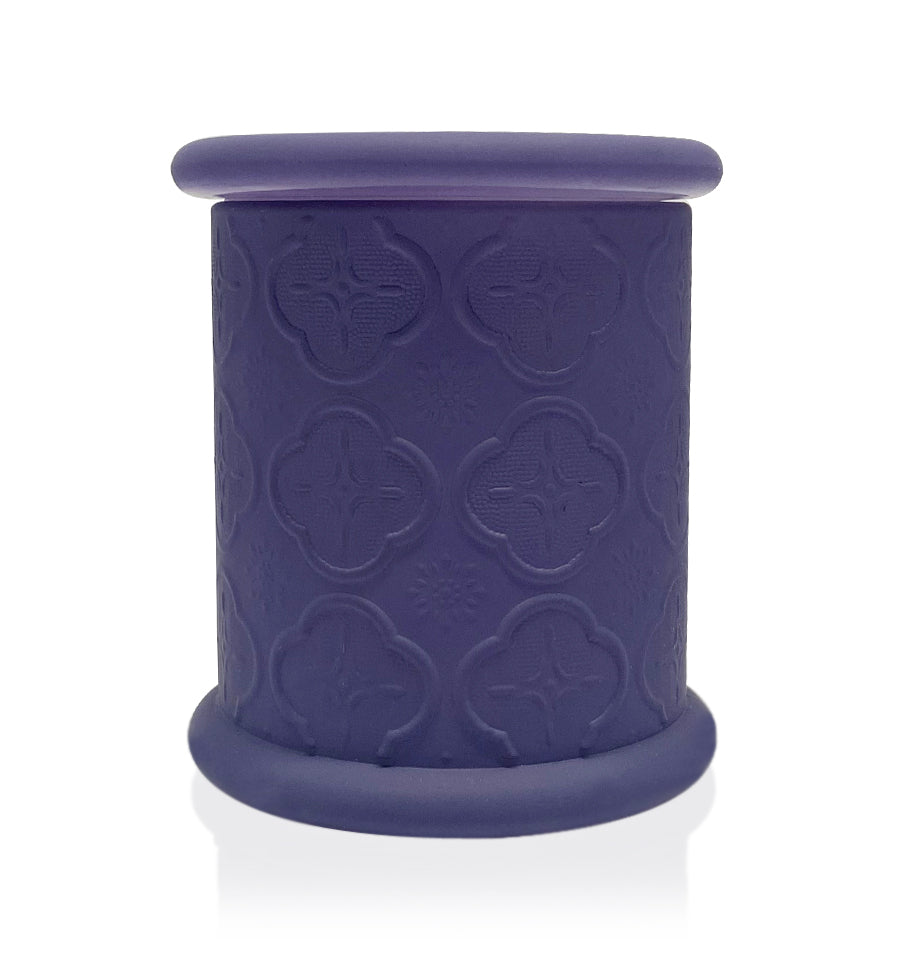 Deco Metro - Matte Purple Glass Candle Jar with Lid 280-300ml
