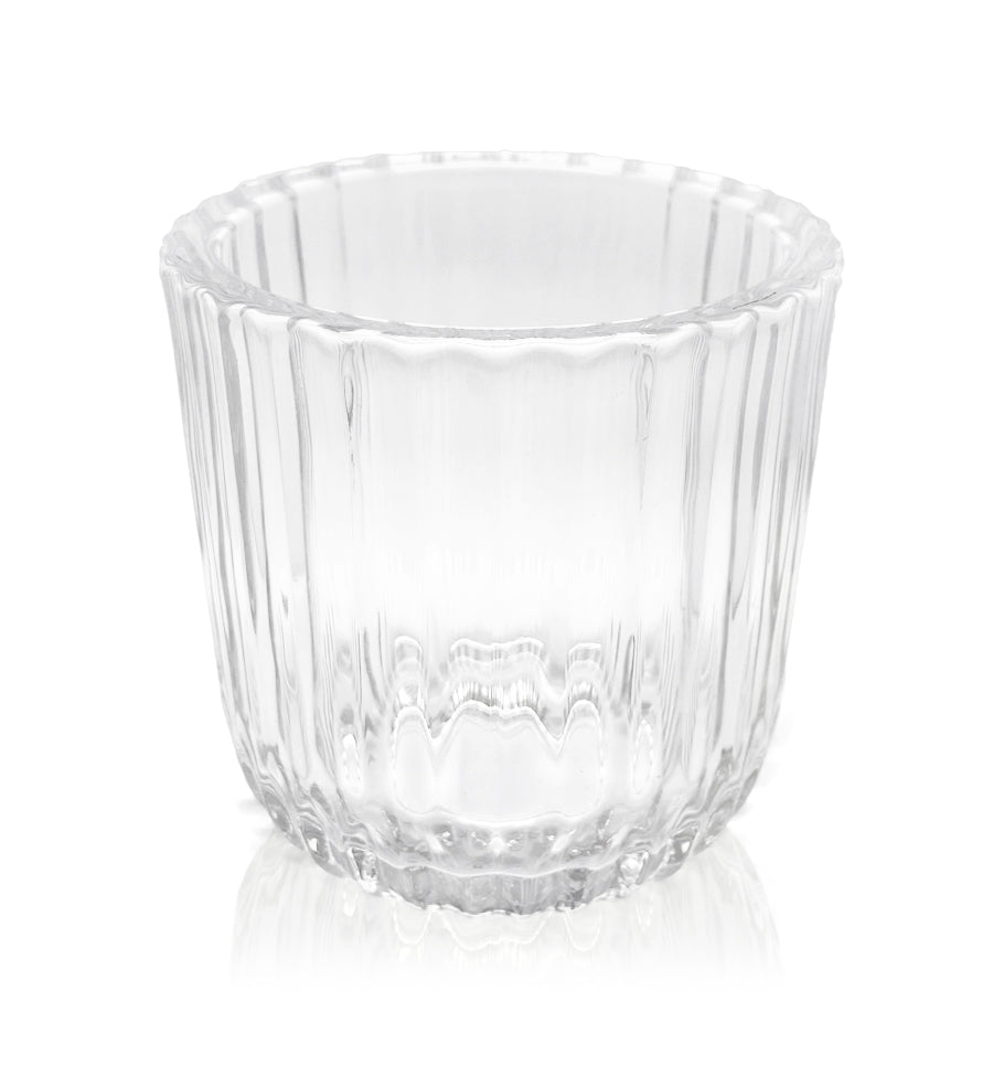 Clear Ripple Thick Wall Glass Candle Jar - 300mls