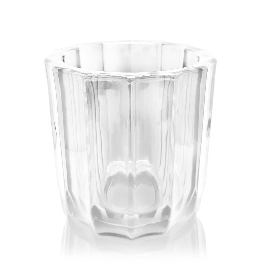Clear Fluted Thick Wall Glass Candle Jar - 300mls