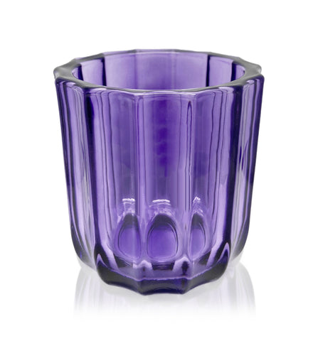 Amber Hexagon Cut Glass Tumbler - 230-250mls
