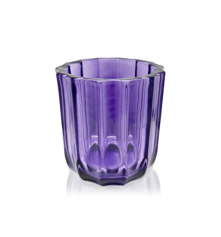 Amber Ribbed Cut Glass Tumbler - 230-250mls