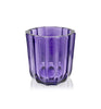 Purple Fluted Thick Wall Glass Candle Jar - 150mls