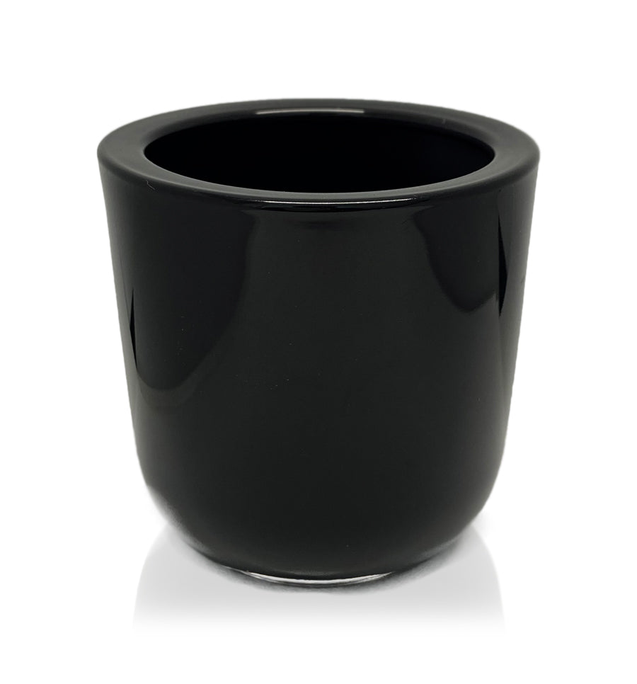 Black Thick Wall Glass Candle Jar - 300mls
