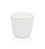 White Thick Wall Glass Candle Jar - 150mls
