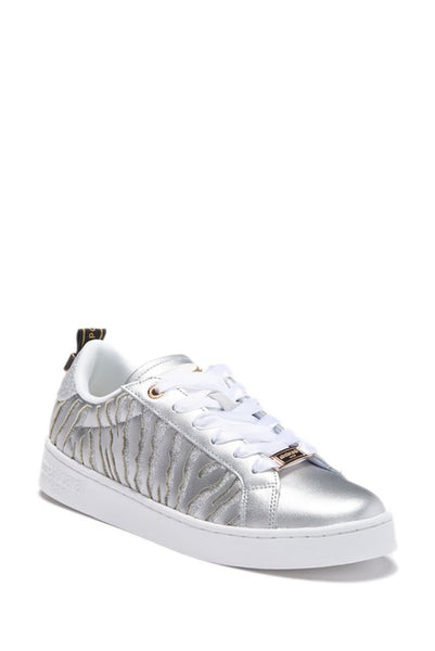 Roberto Cavalli Leather Animal Print Sneaker