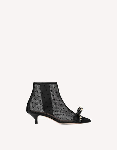 Red Valentino Geometric Bow Bootie