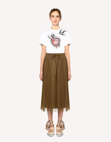 Red Valentino Tattoo Printed T-Shirt