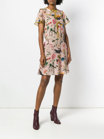 Red Valentino Printed Tea Dress