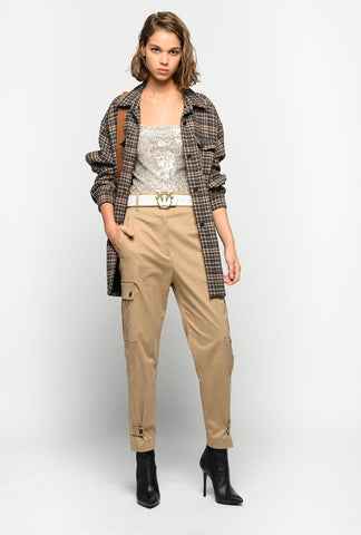 Pinko Beige Slim Pants