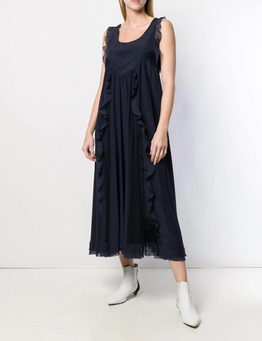 Red Valentino Ruffled Maxi Dress