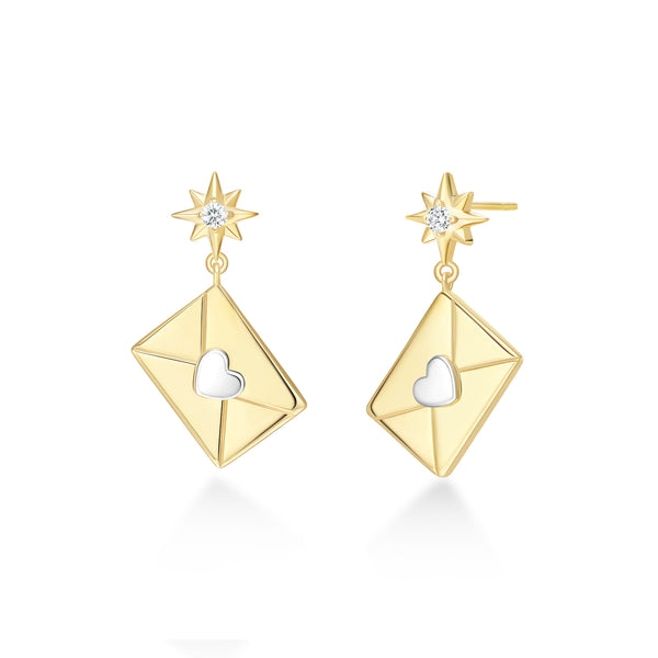 He Feng Envelope Earrings