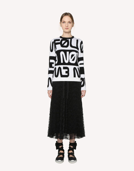 "Red Valentino ""Follow Me Now"" Jacquard Wool Jumper"
