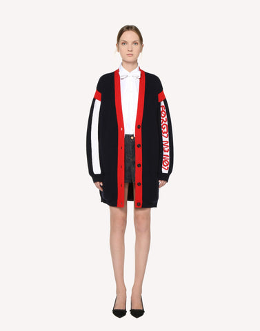 "Red Valentino ""Satin-Back Crepe Dress With ""Love You"""" Print """