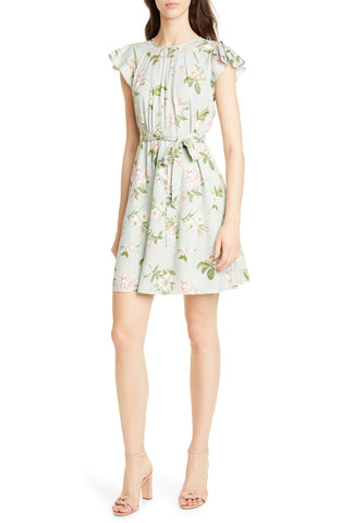 Rebecca Tarlor Lita Floral Print Silk Blend Dress