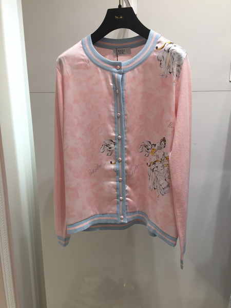 Weill Pink Angel Silk  Cardigan