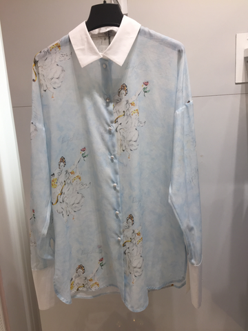 Weill Angel Print Silk Shirt