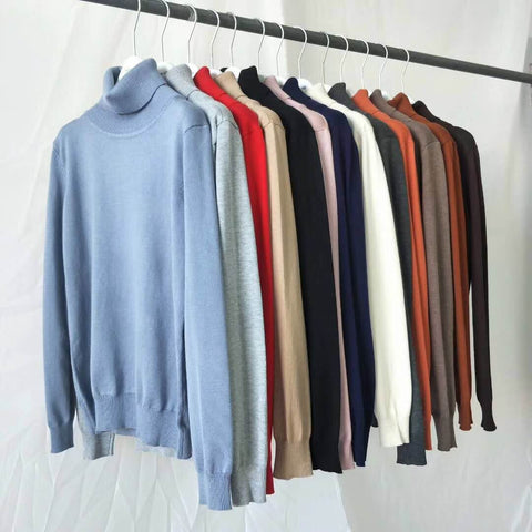 niche Original Super Cotton Turtle Neck Basic Sweater